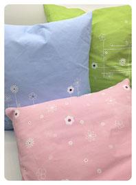 Kissen aus Baumwolle & Leinen