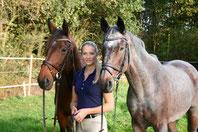 Inga Lena Schnack auf dem Vereinspferd Bronco:  Siegerin beim Sprung ins Neue Jahr 2014 mit einer Sprunghöhe von 1,65 m