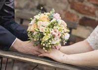 Traumhafter Brautstrauß in Rosatönen