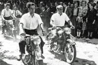 Motorradeskorte zur Installation von Alois Heinzl (1955)