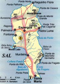 Strecke der Inseltour in rosa eingezeichnet!