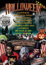 """Halloween im Safaripark 2015 """"Jahrmarkt des Schreckens""""  powered by HuWu"""