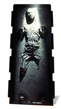 Pappaufsteller Han Solo Carbonite
