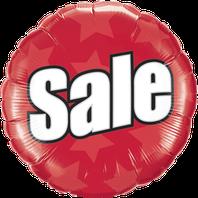 Folienballon Luftballon Ballon Dekoration Event Sale Reduziert Prozente Ausverkauf Schlussverkauf