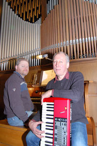 Werner Quicker, Syntheziser und Ludger Morck, Orgel