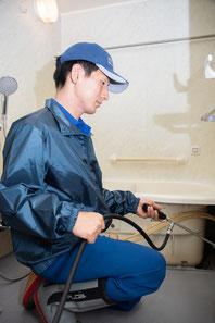 浴槽下高圧洗浄の作業仕様