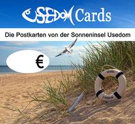 Topschild Kartenständer UsedomCards