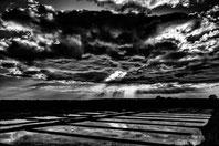 Guerande, reflet nuageux sur les marais