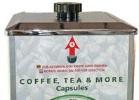 Drehknopf zur Kaffeeauswahl
