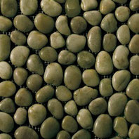 Olive green round pebbles