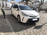 Taxi en la parada de taxis en Frigiliana