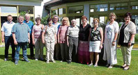 Die Pfarrei Ast besuchte mit einer Abordnung ihren Geistlichen BGR Raimund Arnold in Kellberg.