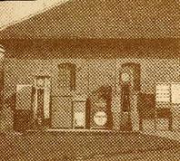 Tankstelle vor der alten Kelter in der Friedrichstraße