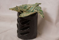 Duftlampe aus Steingut, Keramik