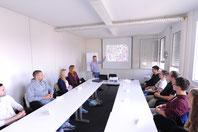 Michael Kienzler im Dialog mit unseren Studenten aus dem Studiengang Sport- und Eventmanagement