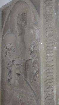 Die Grabplatte der Agnes von Waldeck. Bild: © Inschriftenprojekt Ammertal.