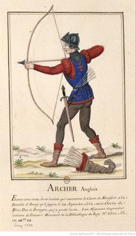 Archer Anglais XV. Source Gallica.