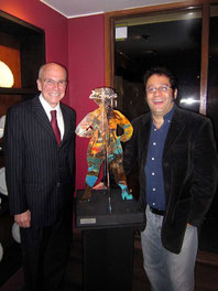 United States Ambassador in Colombia Michael McKinley and Rafael Espitia
