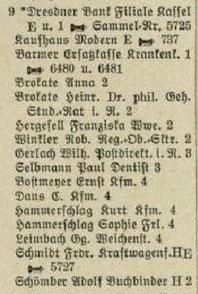 """Adressbuch 1931 zur Kölnischen Straße 9 mit dem """"Kaufhaus Modern"""""""