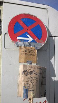Halteverbot Schilder bei Frenk 0251-3024917