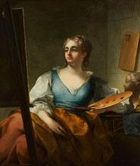Jean Raoux, Allégorie de la peinture, vers 1732, huile sur toile, collection musée des beaux-arts de Brest.