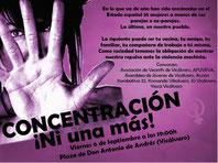Cartel de la concentración convocada el viernes 6 de spetiembre contra la violencia machista