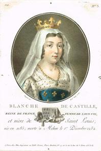 Portrait de Blanche de Castille . Antoine Louis François Sergent-Marceau. Temple de Paris