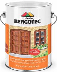 Bergotec Kompakt Langzeitschutz-Lasur für farblose Außenanstriche - auch auf neuem Holz - kann gestrichen oder gerollt werden