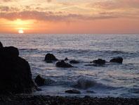 coucher de soleil au Port du Lude. décembre 2014.