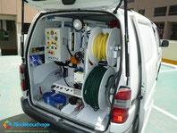 Vehicule hydrocurage