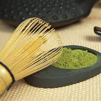 Grünes Teepulver