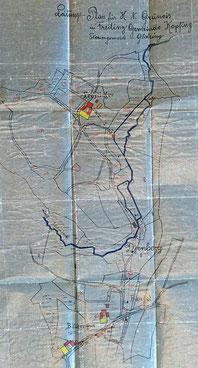 Lageplan Freiling-Dürnberg (1923)