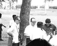 Loingrin Filippello con Enrico Morresi con Padre K.M.Joseph