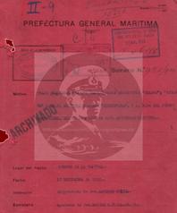 "Auszug aus dem Logbuch der ""Prefectura General Maritima"""
