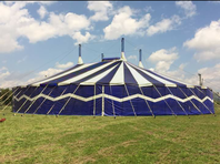 Zirkus / Party Zelt Blau Weiss zum Feiern