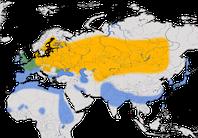 Karte zur Verbreitung der Tafelente