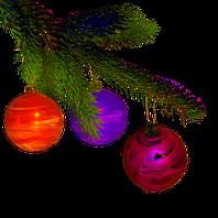 Weihnachtsbaumkugeln marmorieren und verzieren mit Metallic-Farben