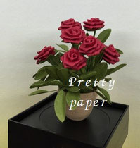 フラットローズのミニ植木鉢