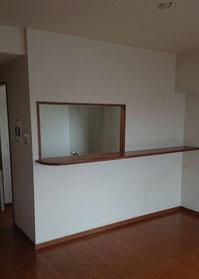 腰壁を利用した対面キッチンのリフォーム事例