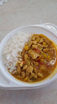 Hendlcurry mit Reis