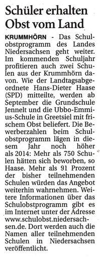 Ostfriesen-Zeitung 15.07.2015