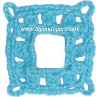 Paso a paso a crochet: granny con calado central