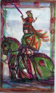 Tafel 77 mit Königin Venus 29,7 x 21 Feder, Aquarell 2006