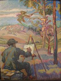 Mi amigo et la naturaleza 1916 35x27 huile sur bois André Aaron Blils