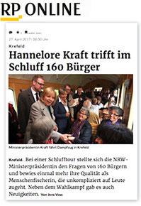 Frau Holzmann und Frau Barthels von Derichs GmbH treffen Frau Hannelore Kraft