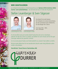 Gartenarbeit im Juli - Durrer Gartenbau AG Herzogenbuchsee