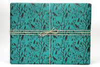 Kathrins Papier Vögelchenpapier grün