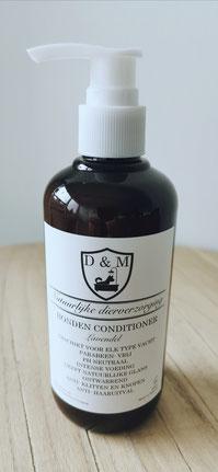 DM4U-D&M-Natuurlijke-dierverzorging-honden-hond-puppy-pup-shampoo-conditioner-parfum-hondenshampoo-parabeen-vrij-PH-neutraal-vacht-huid-lavendel-kalmerend-korte-vacht-halflange-half-lange-ontwarrend-volume-glans-schilfers-haaruitval-uitval