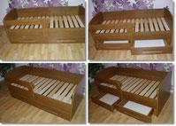 mebdrew  łóżko z szufladami