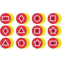 Marques au sol géométriques en PVC pour activités sportives des enfants à acheter pas cher.